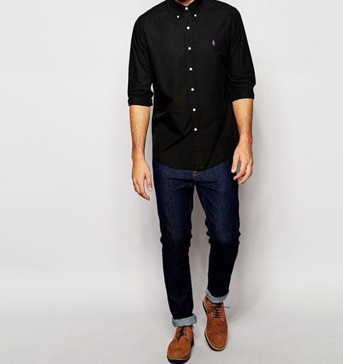 siyah-erkek-gömlek-kombinleri
