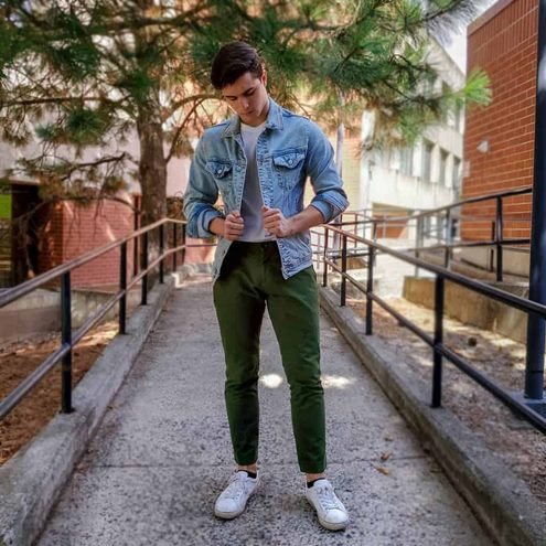 yeşil-pantolon-erkek-kombin