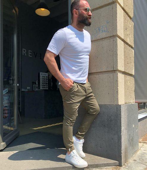 yeşil-pantolon-kombini-erkek