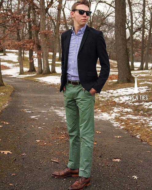 Yeşil-pantolon-üzerine-kombin