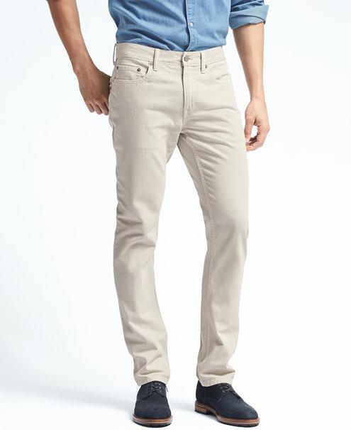 krem-pantolon-mavi-gömlek-kombinleri-erkek