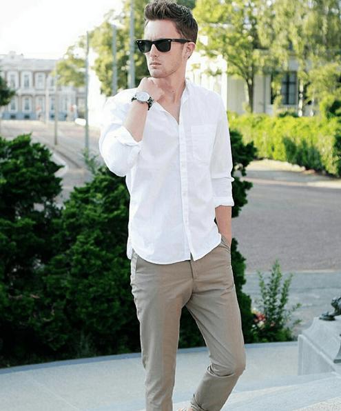 erkek-beyaz-gömlek-kombinleri